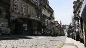PORTO, PORTUGAL - One of the streets in the Porto Old town. stock footage