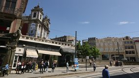 PORTO, PORTUGAL - One of the streets in the Porto Old town. stock video