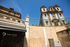 PORTO, PORTUGAL - One of the streets in the Porto Old town. Royalty Free Stock Image