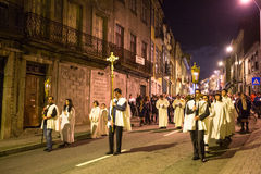 PORTO, PORTUGAL -  Procession in honor of Our Lady of Fatima. PORTO, PORTUGAL - MAY 13, 2015: Procession in honor of Our Lady of Fatima. Events at Fatima gained Stock Photography