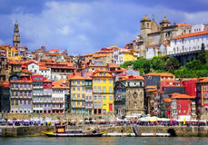 Porto, Portugal. Ribeira, the old town of Porto, Portugal royalty free stock photo