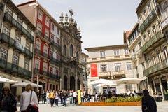 Porto, Portugal: S. Domingos square and Misericórdia church Royalty Free Stock Image