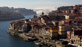 Porto, Portugal. Porto is the second largest city of Portugal, after Lisbon. It is famous especially for his fortified Port wine stock photography