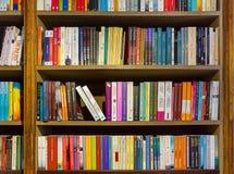 PORTO, PORTUGAL - SEPTEMBER 09, 2016: Bookshelf in book shop Liv Royalty Free Stock Image