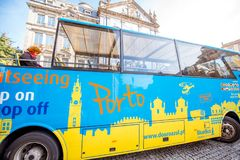 Tourist bus in Porto city Stock Image