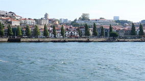 PORTO, PORTUGAL - SEPTEMBER, 2015: Waves on Douro river stock footage