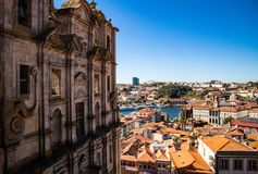 Porto, Portugal skyline, Miradouro view royalty free stock photography