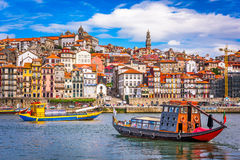Porto, Portugal Skyline. Porto, Portugal old town skyline from across the Douro River Stock Images
