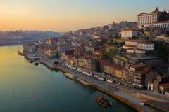 porto portugal solnedgång royaltyfri foto