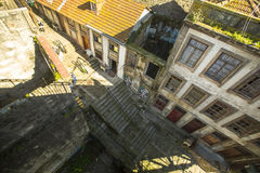 PORTO, PORTUGAL - Top view one of the streets is the Old Town at Porto. Royalty Free Stock Photos