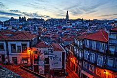 Porto Portugal. Town sunset village city Royalty Free Stock Images