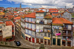 Porto, Portugal. View of the old Porto town and Igreja dos Clerigos church, Portugal Stock Photography