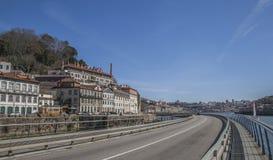 Porto, Portugalia - brzeg rzeki Zdjęcia Stock