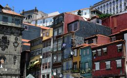 Porto Portugalia, Lipiec, - 10 2010: centrum miasta Obrazy Royalty Free