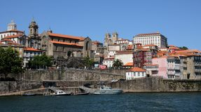 Porto Portugalia, Lipiec, - 10 2010: centrum miasta Obrazy Stock