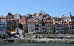 Porto Portugalia, Lipiec, - 10 2010: centrum miasta Zdjęcia Stock