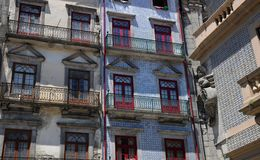 Porto Portugalia, Lipiec, - 10 2010: centrum miasta Fotografia Royalty Free