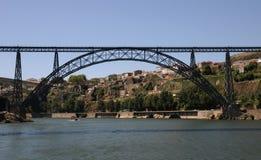 Porto Portugalia, Lipiec, - 10 2010: most Zdjęcia Stock