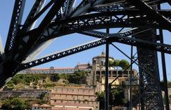 Porto Portugalia, Lipiec, - 10 2010: most Obraz Stock