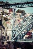 Porto, Portugalia -21 2015 Maj: Dom Luis most w Porto, Portugalia Zdjęcie Stock