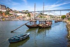 Porto, Portugalia -21 2015 Maj: Porto, Portugalia stary grodzki pejzaż miejski Obraz Royalty Free