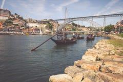Porto, Portugalia -21 2015 Maj: Porto, Portugalia stary grodzki pejzaż miejski Obrazy Royalty Free