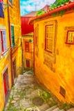 Porto, Portugalia miasteczka przesmyk stary ulica widok Obraz Stock