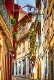 Porto, Portugalia miasteczka przesmyk stary ulica widok Zdjęcie Royalty Free