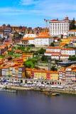 Porto, Portugalia stary grodzki widok z Douro rzeką Obrazy Royalty Free