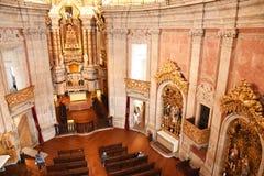 Porto Portugalia, Styczeń, - 09, 2019: Wnętrze kościół Clerigos kościół duchowieństwa Wysoki wierza w mieście Po zdjęcie stock