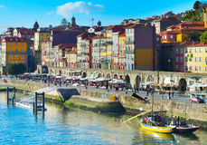 Porto quayside, Portugal Royalty Free Stock Images