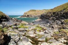 Porto Quin em Cornualha Reino Unido Inglaterra fotos de stock