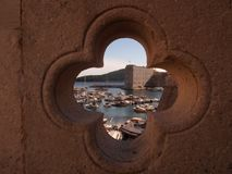 Porto Ragusa Croazia di Gruz Fotografie Stock