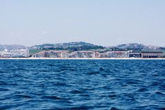 Porto Recanati från havet Royaltyfri Fotografi