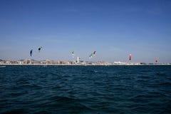 Porto Recanati Kitesurf regatta Royalty Free Stock Image