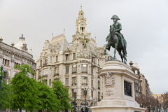 Porto: Rei os DOM Pedro IV, o Porto, Portugal Fotos de Stock Royalty Free