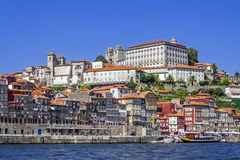 Porto - Ribeira District seen from Douro River Stock Image