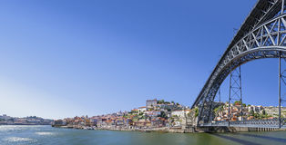 Porto - Ribeira, Douro River, D. Luis Bridge Stock Photography