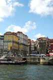Porto Ribeira Houses and Square Stock Images