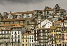 Porto Riberia Bezirk und Catedral Stockbilder