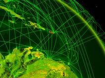 Porto Rico no globo digital ilustração do vetor