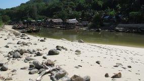 Porto riparato della barca in Patong, Phuket, Tailandia Fotografia Stock Libera da Diritti