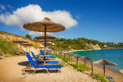 Porto Roma beach on Zakynthos island Stock Photo