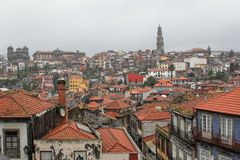 Porto rooftops in city landscape Stock Images