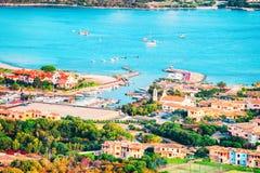 Porto Rotondo on Golfo Aranci on Costa Smeralda. In Sardinia in Italy royalty free stock photography