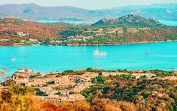Porto Rotondo on Golfo Aranci at Costa Smeralda in Sardinia in Italy. Porto Rotondo on Golfo Aranci at Costa Smeralda in Sardinia of Italy royalty free stock photography