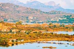 Porto Rotondo at Golfo Aranci in Costa Smeralda. In Sardinia in Italy stock photos
