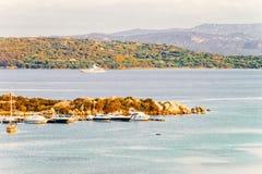 Porto Rotondo in Golfo Aranci Costa Smeralda in Sardinia in Italy. Porto Rotondo in Golfo Aranci in Costa Smeralda in Sardinia in Italy royalty free stock image