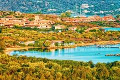 Porto Rotondo Golfo Aranci at Costa Smeralda in Sardinia in Italy. Porto Rotondo at Golfo Aranci at Costa Smeralda in Sardinia in Italy stock photography
