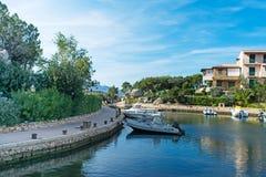 Porto Rotondo harbor. Porto Rotondo small harbor on a sunny day royalty free stock photo